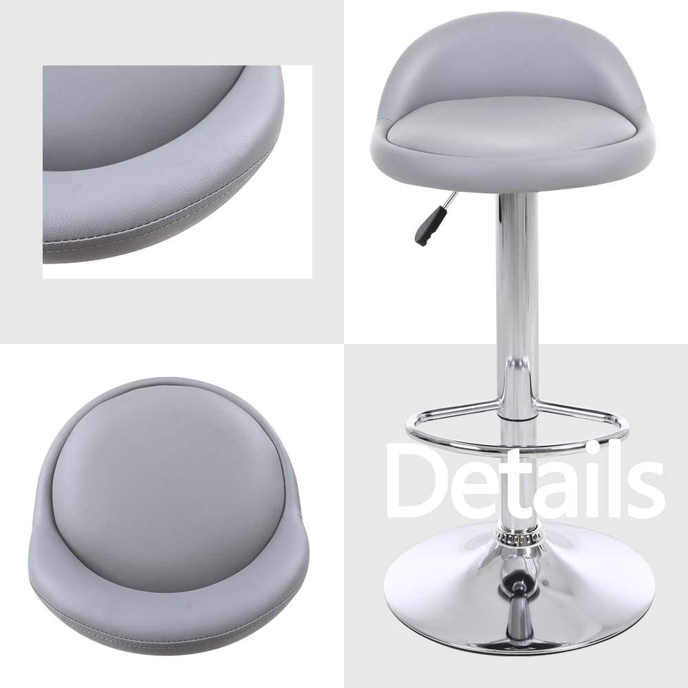 Buy Set of 9 Kitchen Bar stools Backless Stool Faux Leather Round ...