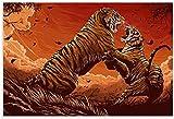 Dvbhd Lienzos Decorativos Pinturas de Arte de Pared Tigres de Bengala Cuadro de Arte de Pared Impresión de Poster de Decoracion Moderna 60x90cm x1 Sin Marco