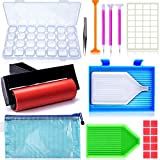 Suptikes 22 Pieces 5D Diamonds Painting Tools and Accessories Kits with Diamond Painting Roller and Diamond Embroidery Box for Diamond Painting Art