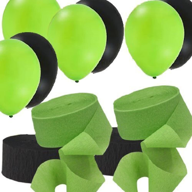connotación de lujo discreta 2 verde verde verde & 2 negro Rolls Streamers and 24 Balloons Decorating Kit by Party city  a precios asequibles