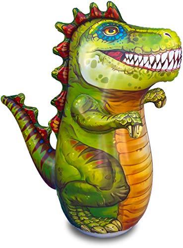 "ImpiriLux Inflatable T-Rex Dinosaur Punching Bag for Kids   Premium 48"" Tall 3-D Bop Bag Toy"
