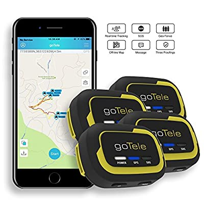 goTele Off-Grid Outdoor Real Time GPS Tracking Beacon, Text and Track Location on Your Phone Without Network Service