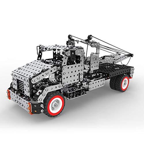 Teckpeak 3D Metal Puzzle Kit, 1094Pcs 3D Mechanical Crane Trailer Model for Home Decor 3D Model Kits for Adult/Kids