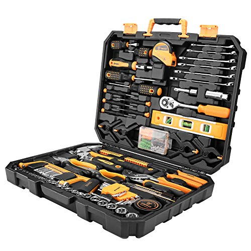 DESOON 168 Piece Tool Set,Mixed Tool Set Hand Tool for General Household