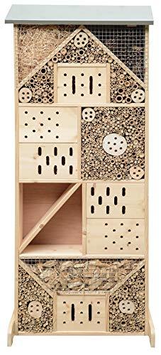 Gardigo Insektenhotel XXXL | Insektenhaus 120 cm groß aus Holz I Nistkasten für Wildbienen, Florfliegen, Marienkäfer und Schmetterlinge I Gefüllt mit Naturmaterialien wie Bambus