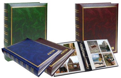 Dex - Álbum fotos símil piel anillas, 33 x 26 cm (surtido: colores aleatorios)