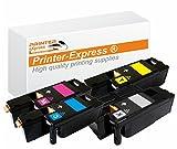 Printer-Express XL Toner 4er Set ersetzt Dell 7C6F7, 593-11130, 5R6J0, 593-11129, XY7N4, 593-11131, 4J0X7, 593-11128 Toner für Dell C1660 C1660W C-1660 C-1660W Drucker