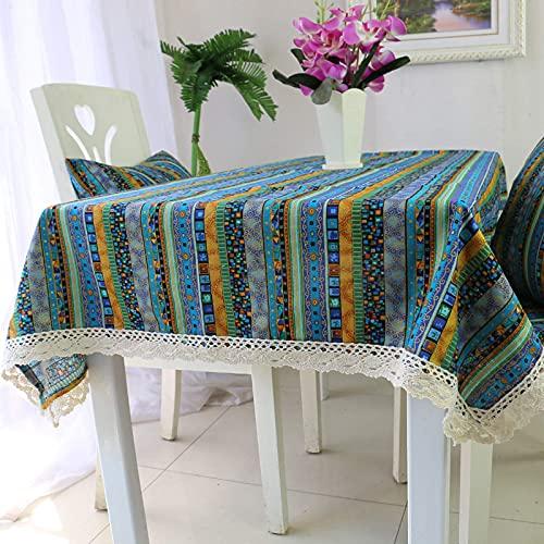 N/K Accesorios para Sala de Estar Mantel Mantel de algodón y Lino Mantel de té Mantel de decoración del hogar Mantel Rectangular Mantel Grande