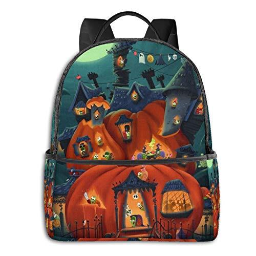 Best Witch Brooms Halloween Snail Parties Multi-Functional College Bags Students High School Girls Casual Daypack Kids Travel Backpack School Laptop Bookbags Teens Boy Outdoor Accessories