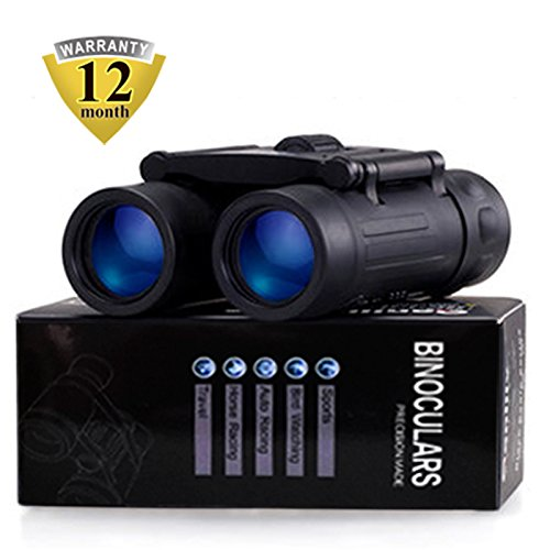 Merytes Binoculars with 10x25 Portable High Definition and Blue Film Daily Waterproof IPX3 Binoculars for Adults