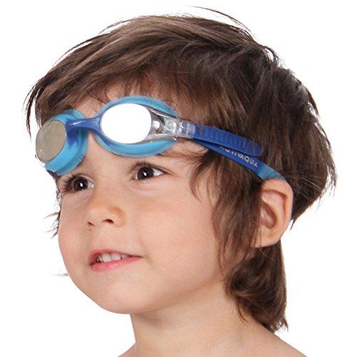 AqtivAqua Schwimmbrille Kinder Kinderschwimmbrille Schwimmbrillen für Kinder 3 4 6 8 10 Jahre (Blau/Hellblau - OceanSky)