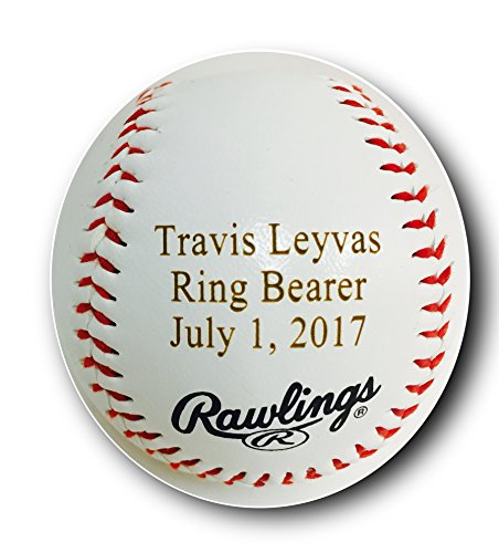 Custom Customized Personalized Synthetic Leather Baseball Gift for Him, for Her, for Boys, for...