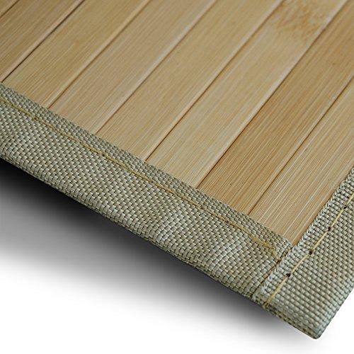 casa pura Bambusteppich Marigold | für Bad und Wohnzimmer | natürlich wohnen Bambus | Bambusmatte in vielen Größen (200x300 cm)
