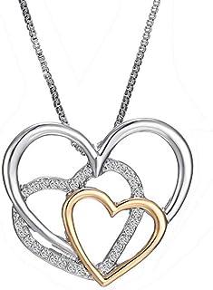 قلادة من الفضة الاسترلينية 925 من تودوبيم على شكل قلب قلادة للنساء والسيدات والفتيات هدية مجوهرات