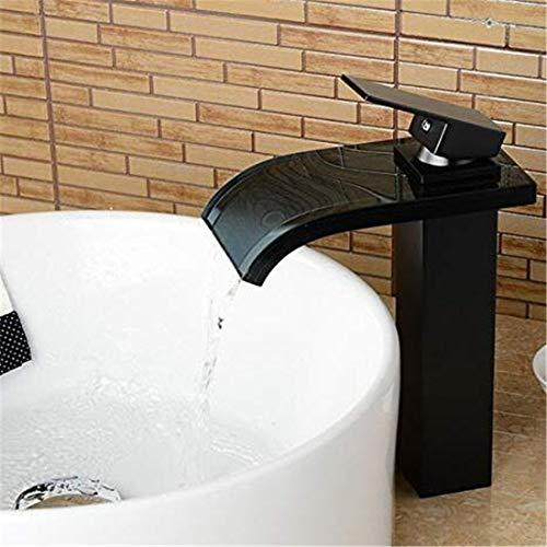 Waterkraan chroom keramische kraan waterkraan koper glas oranje brons zwart brons waterval waterkraan wastafel koude en koude wastafel