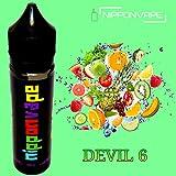 電子タバコ リキッド 60ml 【DEVIL 6】(ミックスフルーツ風味) 国産 NIPPONVAPE 日本製 Vapeリキッド (DEVIL6-メンソール無し, 60ML)
