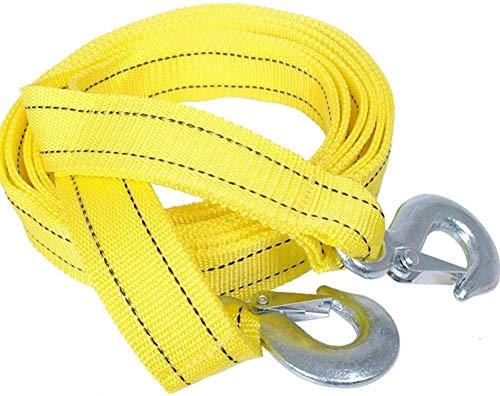 gotyou Auto Abschleppseil 4 m Tragkraft 5 Tonnen Auto Trailer-Seil Tow Kabel mit Haken Einsatzfahrzeug Werkzeug, hochfestes Notfall-Abschleppseil, Sicherungszubehör für Autos und LKWs