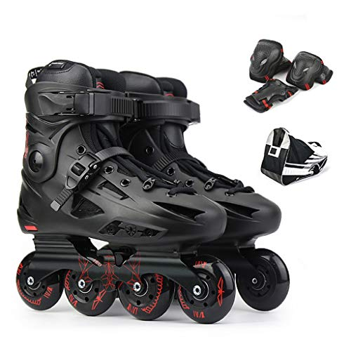 Great Deal! LDM Inline Skates Boys Girls Safe and Durable Roller Skates with PU Wear-Resistant Mute ...