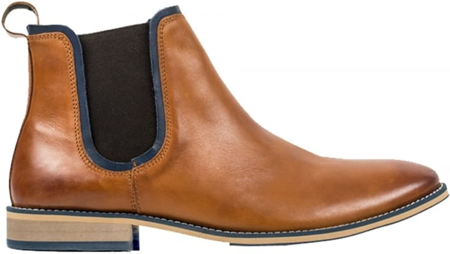 FRONT Men's Stanford Chelsea Leather Boot Tan