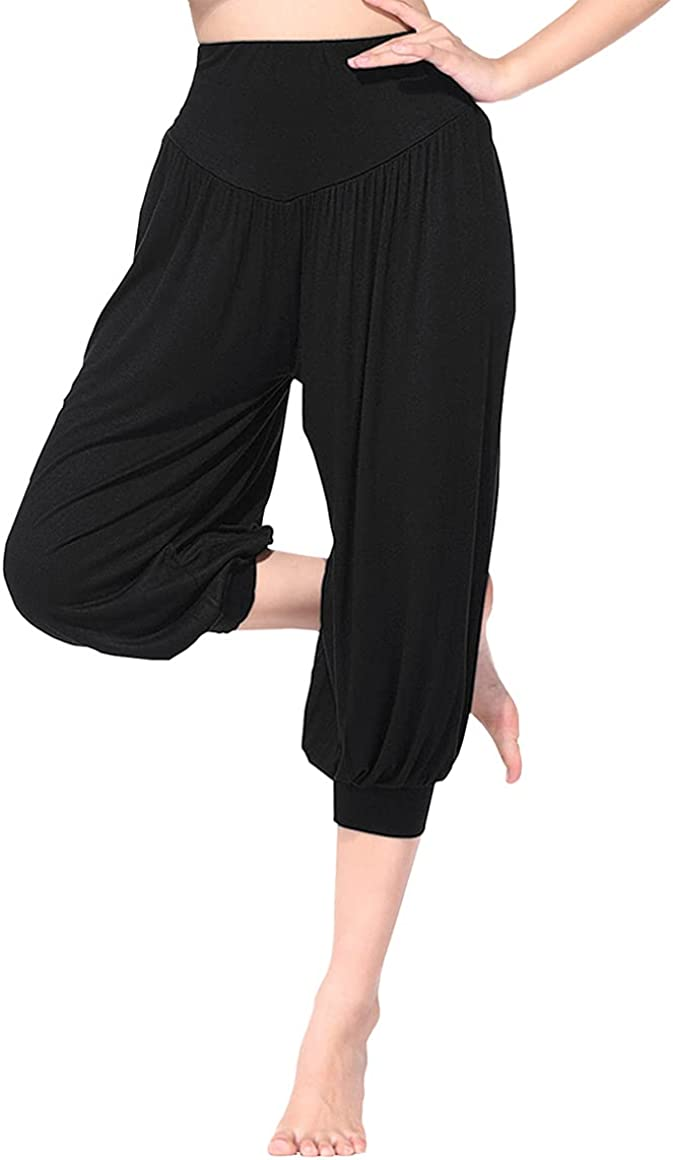 BeautyWill Harem Clearance SALE Limited time Pants for Women Smocked Waist Loose Fit Spasm price Cotton