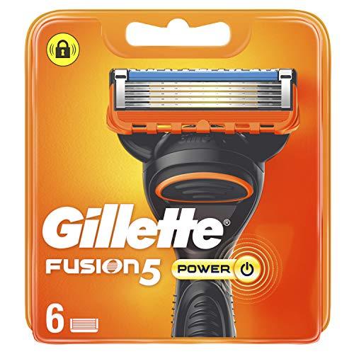 Gillette Fusion5 Power - Cuchillas de recambio para hombre (6 unidades)