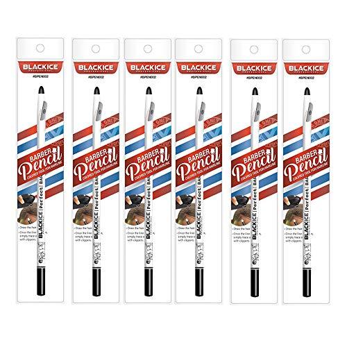 Black Ice Spray Barber Pencil (White) - 6 pieces
