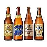 プレミアム瓶ビール 中瓶6本セット(アサヒスーパードライプレミアム豊醸2本 ・アサヒ熟撰2本 ・サッポロエビス1本 ・サントリープレミアムモルツ1本)