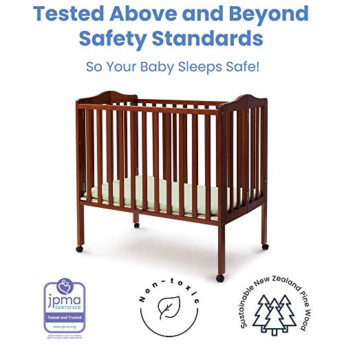 Delta Children Folding Portable Mini Crib with Mattress