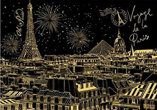 BAIXI City Night Scene Painting Diy Scratch Art Paper Gift Creative Birthday Gift,Scratch boards (London)