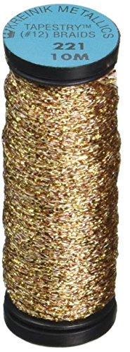 Kreinik Metallic Tapestry Braid #12 11yd-Antique Gold