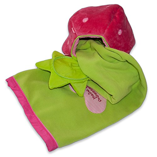 Fleecedecke Haba in Stofferdbeere, Schmuse Decke, Kuscheldecke, Mädchen Geschenk, Geschenke für Mädchen, Geschenkideen Weihnachten