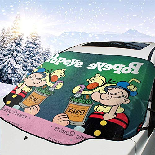 Pop-eye Sail-or comics comedy volumen 2 Wimpy Cute Kids Protector de parabrisas magnético para coche, protección contra el calor