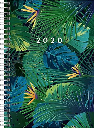 rido/idé 702180701 Buchkalender Timing 1 (2 Seiten = 1 Woche, 148 x 210 mm, Grafik-Einband Tropical, Kalendarium 2020)