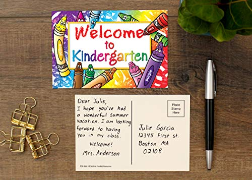 Teacher Created Resources Welcome to Kindergarten Postcards (4860),Multi Photo #3