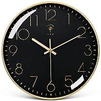 ヨーロピアンスタイル 時計/壁時計/リビングルームライト高級現代のシンプルな時計/壁の家庭用ファッション壁ウォッチクォーツ時計 (Color : D, Size : 40.5cm)
