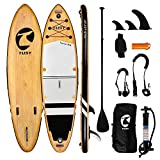 TUSY Inflatable Stand Up Paddle Board 10'6'×33'×6' with Premium Sup Accessories & Backpack, Camera Mount, Wide Stance, Non-Slip Deck, Leash, Adjustable Paddle and Pump, Standing Boat for Youth & Adult