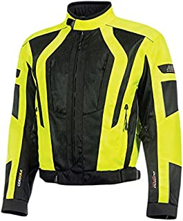 Olympia Moto Sports MJ410 Men's Airglide 5 Mesh Tech Jacket (Neon Yellow/Black, X-Large)
