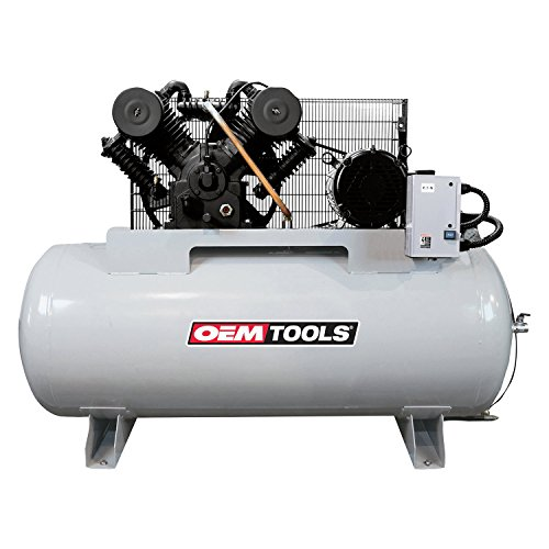 OEMTOOLS 26104 10HP 120 Gallon Three Phase 230V Air Compressor | Shop Compressor | Provides Air Power for Impact Guns, Ratchets, Grinders, Drills, etc.