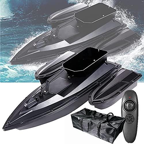HHORB Barco De Cebo RC Barcos De Pesca, Barco De Cebo De Pesca Inteligente, 500M Remoto Buscador De Peces Barco Carga De Gran Capacidad Barco RC Lancha Rápida Motor Dual