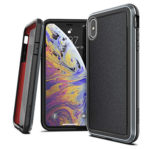 X-Doria Defense Ultra, iPhone Xs Max Case - Heavy Duty Protective Case with Anodized Aluminum Frame, Military Grade Drop Tested Case for Apple iPhone Xs Max, 6.5 Inch Screen, (Black)