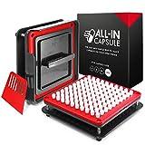 ALL-IN Capsule -Máquina de llenado de cápsulas 000 - Hacer cápsulas propias es más fácil y más rápido - Use con cápsulas vacías de gelatina o capsulas vegetarianas - Instrucciones ilustradas con video