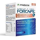 Arkopharma Forcapil Fortificante Keratina 60 Cápsulas 1 Mes, Resistencia, Vitalidad, Volumen y Billo, Cabello Debilitado, Biotina, Vitaminas y Aminoácidos, Complemento Alimenticio