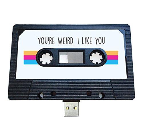 Mixtape USB (8 GB) Retro, regalo extravagante, fresco, lindo, amor, regalo, novio, novia, oficina, novedad, cumpleaños, boda, aniversario, San Valentín, para ella, regalos para él, Flash Drive