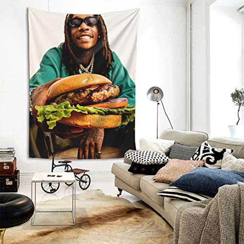 OINU Wiz Khalifa Tapestry Wall Hanging Art Wall Living Room Decoration Room Wall Hanging Picnic Blanket 80x60 inches