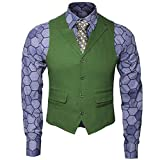 Adult Mens Knight Joker Costume Shirt Vest Tie, Shirt Vest Tie Set, Size 2.0