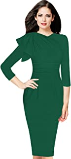 Womens Celebrity Elegant Ruched Cocktail Party Bodycon Sheath Dress