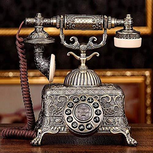 LXYZ Teléfono Retro con botón, Cuerpo de aleación de Zinc, teléfono Antiguo, Sala de Estar, decoración del hogar, teléfono Fijo Vintage
