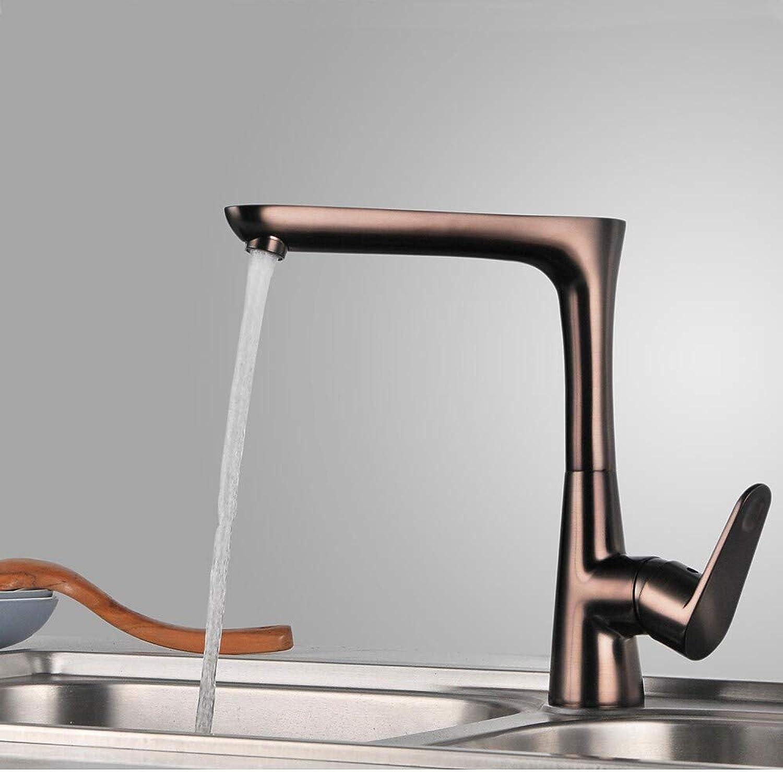 Küchenarmatur - Einloch mit l eingeriebener Bronze-Stangen-   Vorbereitungs-Deckenmontierte zeitgenssische Küchenarmaturen Einzelgriff Einloch  Standard, Standard