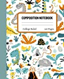 Dinosaur Composition Notebook College Ruled: Cute Dinosaur Composition Notebook College Ruled, Dinosaur Composition Book, 7.5x9.25 College Ruled Pages 7