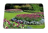 26cmx21cm マウスパッド (チューリップ花花壇美容公園ブッシュ) パターンカスタムの マウスパッド